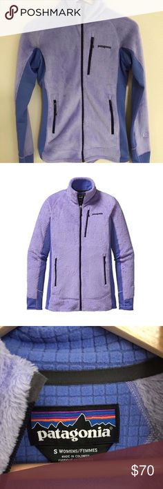 Patagonia R2 Womens Small Fleece Jacket Purple Patagonia R2 Womens Ploy Purple Fleece Jacket size Small  Excellent condition, purchased new in 2015 and it's been in my closet ever since, never worn out.    The ultimate cold-weather midlayer, our hybrid-design R2® Jacket provides exceptionally breathable, quick-drying warmth in our most compressible Regulator® style.  Features Exceptionally warm, directionally knit Polartec® Thermal Pro® fabric is breathable, compressible, wicks moisture and…