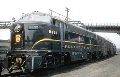 Pennsylvania Railroad Fairbanks Moorse CF16A-4 C-Liner, Class FF16, Diesel Electric Locomotive #9453, at the Railroad's Facility in East Altoona, Pennsylvania (1950's).