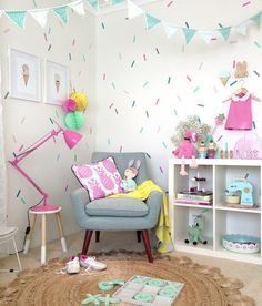 Sprinkles bedroom decals? Could do a cake cupcakes ice cream theme