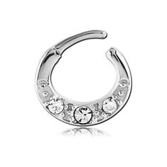Body Piercing, Piercings, Septum Clicker, Body Jewellery, Jewelry Stores, Engagement Rings, Jewels, Steel, Crystals