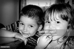 Stock Photo : Portrait Of Happy Siblings At Home