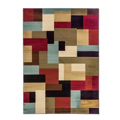 This stunning rug is crafted of heavy, heat-set olefin and features a contemporary geometric-inspired pattern design. Highlighting a warm and neutral color palette, this area rug is sure to accentuate your home decor.