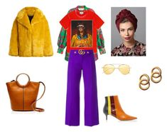 """My Mix @ Match Collection #  with Turban"" by bpspyropoulou ❤ liked on Polyvore featuring H&M, Gucci, Diane Von Furstenberg, J.Crew, Laura Lombardi and Illesteva"