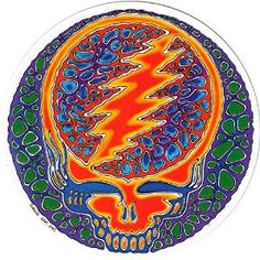 """Amazon.com: Rusty Blue Steal Your Face - Grateful Dead Window Sticker / Decal (5"""" Circular): Automotive $6.95 + free shipping. Sold by Peace Resource Project"""