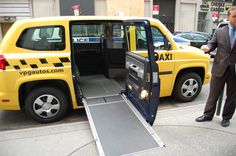 How awesome is this MV-1 wheelchair accessible taxi in NYC?