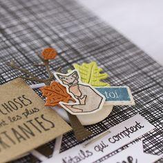 """Laure : Tampons et matrices de coupe (dies) #4enSCRAP """"Promenons-nous dans les bois"""""""