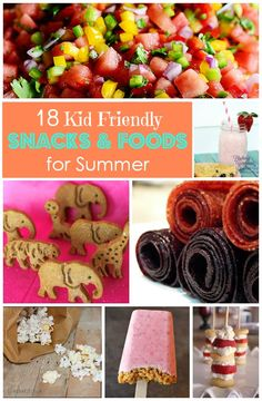 18 Kids Friendly Snacks and Foods for Summer via #lookwhatmomfound An awesome link up for kids. #conveyawareness