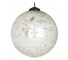 Julekugle Ø12 cm Glas - Antik hvid