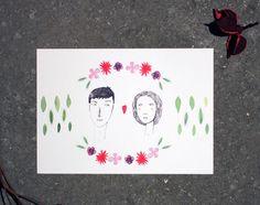 Postkarte – Liebe von Irina Mmurs Things auf DaWanda.com