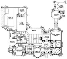 This mediterranean design floor plan is 4776 sq ft and has 4 bedrooms and has bathrooms. Dream Home Design, My Dream Home, House Design, Dream House Plans, House Floor Plans, Building Plans, Building A House, Mediterranean House Plans, Mediterranean Style