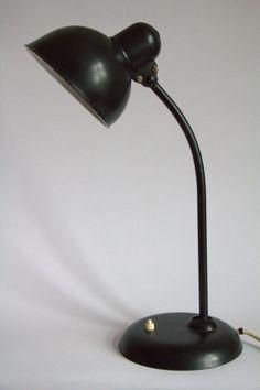 Desk Lamp Kaiser Idell black vintage mid-century