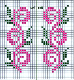 Ribbon Flowers Embroidery Ideas: Learn Stitching for Beginners - frieda Cross Stitch Bookmarks, Cross Stitch Borders, Cross Stitch Flowers, Cross Stitching, Cross Stitch Embroidery, Cross Stitch Patterns, Fair Isle Knitting Patterns, Bead Loom Patterns, Knitting Charts