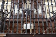 Zaragoza, Spain - Basilica of Our Lady of the Pillar Choir Grille & Organ