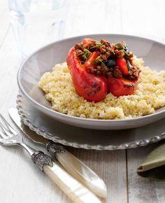 Gevulde paprika's met couscous, NewFysic   Moeiteloos afslanken