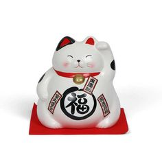 "Lucky Cat Bank 8"" White, $55, now featured on Fab."