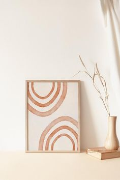 Pastel Landscape, Rainbow Print, Modern Wall Decor, Minimalist Art, Abstract Wall Art, Diy Art, Printable Wall Art, Wall Art Prints, Original Art