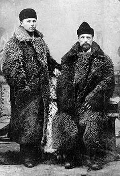 Nineteenth century gentleman's fashion, buffalo robe/coat.