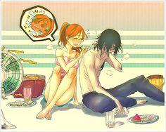 ulquiorra and orihime  :-D I love them together!