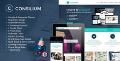 Consilium is a clean and modern design which is perfect for creatives and corporate businesses.