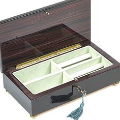 Bello Collezioni  Spello Luxury Mahogany MensWomens Jewelry Box from Italy ** For more information, visit image link. (Note:Amazon affiliate link)