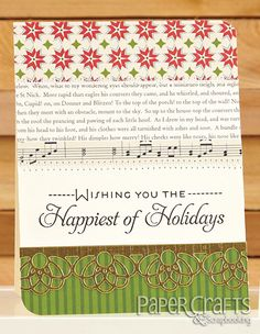 Holiday Card Wishes by  Veronica Zalis for Paper Crafts & Scrapbooking Holiday Cards & More, Vol. 9; Caring Hearts Card Drive Blog Hop