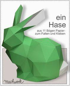 DIY Anleitung Hase- Bastelbogen und Anleitung gratis herunterladen!