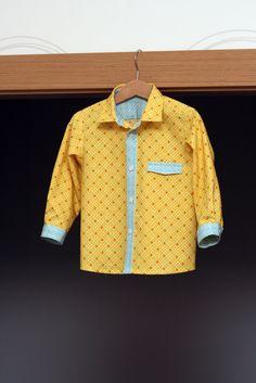 Retro yellow boys shirt