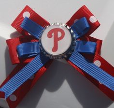 Phillies Philadelphia Phillies Bow Phillies Bow by bowsforme, $6.00