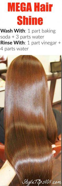 Super Hair Growth Tips Baking Soda 66 Ideas Baking Soda For Dandruff, Baking Soda For Hair, Baking Soda Shampoo, Washing Hair With Vinegar, Vinegar For Hair, Hair Washing, Grow Long Hair, Grow Hair, Baking Soda Health
