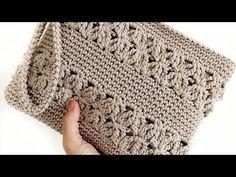 Crochet Wallet, Crochet Tote, Crochet Handbags, Crochet Baby Hats, Crochet Purses, Knit Crochet, Crochet Bag Tutorials, Crochet Videos, Crochet Square Patterns