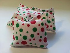 Christmas Dots Trio of Catnip Pillow Puffs Kitty by JasminesAttic, $5.00