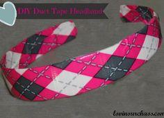 DIY Duct Tape Headband