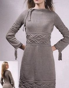 The description of the text is taken from the journal. The gray dress is knitted with knitting needles No. 4 of 650 g of cotton. The size is Knitting pattern and description of the dress with knitting needles. Knitting Blogs, Knitting Patterns Free, Free Knitting, Knitting Needles, Free Pattern, Knitting Yarn, Knitting Charts, Toddler Dress, Crochet Clothes