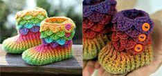 Crochet Crocodile Stitch Booties video tutorial