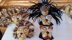Lion King the Musical Jr headpieces for our school play in 2 weeks!  Made using tutorials from theartfulness.com.