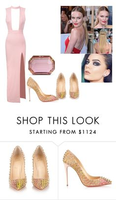 """""""Sexy Pink"""" by tynabrookler ❤ liked on Polyvore featuring Christian Louboutin and Charlotte Olympia"""