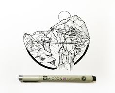 drawings myers derek daily pen easy landscape drawing sunset pencil tattoo ballpoint graphic