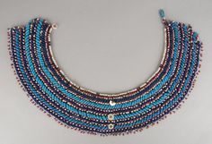 Necklace made of glass beads. Turquoise Necklace, Beaded Necklace, Xhosa, British Museum, African Art, Glass Beads, Detail, Gallery, Red
