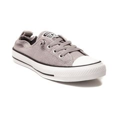 Kick back in casual comfort with the new Shoreline Chucks from Converse! The Shoreline Sneaker rocks a slip-on style with a woven textile upper, elastic tongue goring for optional lacing, collapsible heel with elastic collar, classic rubber cap toe, and signature rubber outsole for slip-resisting traction. Available only online at Journeys.com and SHIbyJourneys.com!    Please note that this shoe runs a half size large.    Manufacturer style 547238C