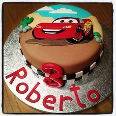 Cars cake/ tarta Cars por Sanlicious https://es-es.facebook.com/sanliciouscakes