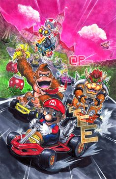 Welcome to Mario Kart! by Pixelated-Takkun.deviantart.com on @DeviantArt