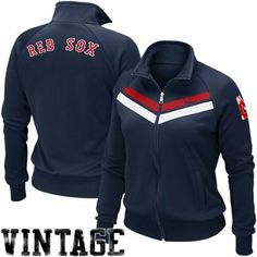Nike Boston Red Sox Women's Cooperstown Track Jacket - Navy Blue