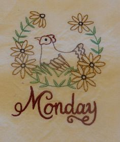 Monday's Chicken by NooksAndGrannys on Etsy