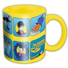 Beatles Yellow Sub Characters Coffee Mug