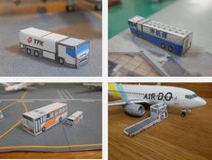 Build Your Own Miniature Airport Paper Model - by Hakotetsu