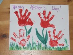 Handprint Art/Cards for Mom