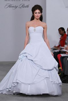 ice blue wedding gown by Michelle Roth - Fall 2011