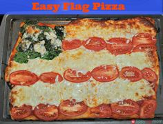 4th of July Food: Pizza Flag