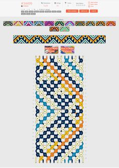 Normal friendship bracelet pattern added by sodapop. Diy Bracelets Easy, Thread Bracelets, Embroidery Bracelets, Braided Bracelets, Handmade Bracelets, String Bracelets, Summer Bracelets, Loom Bracelets, Macrame Bracelets