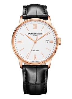 d91d3eb5972 Classima a new red gold version imbued with elegance and timeless purity  for Him. Baume   Mercier presents a pair of watches (with Classima 10270  for women) ...